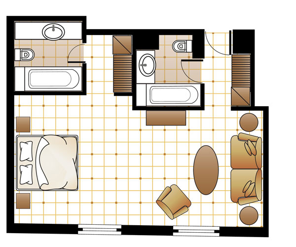 Art Chic Suite floorplan