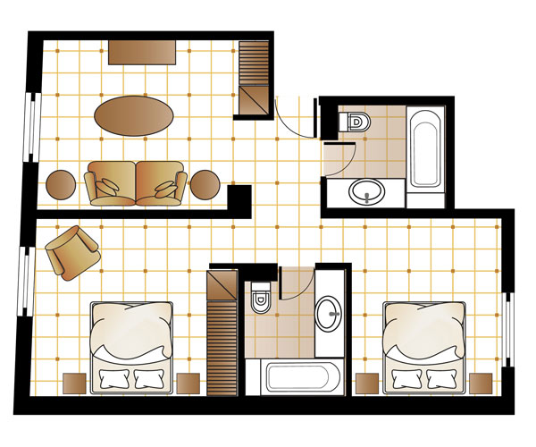 Art Chic Suite Octopussy floorplan