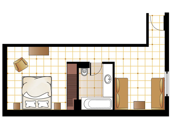 Family Graffiti Guestroom floorplan