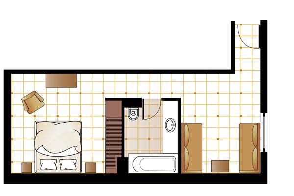 Family Graffiti Guestroom floorplan