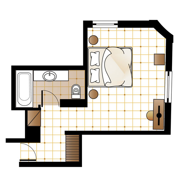 Graffiti Guestroom floorplan
