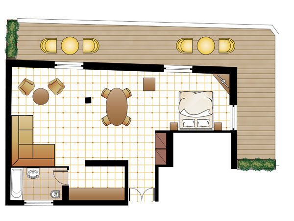 L Loft Suite floorplan