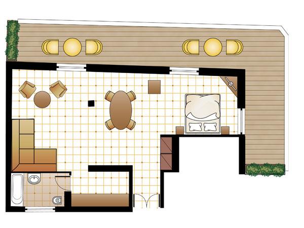 L Loft Suite floorplan
