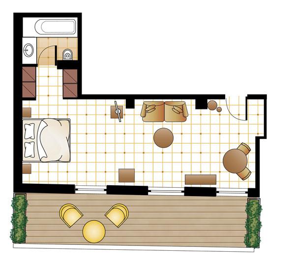 M Loft Suite floorplan