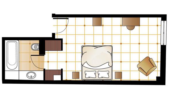 Pallas Guestroom floorplan