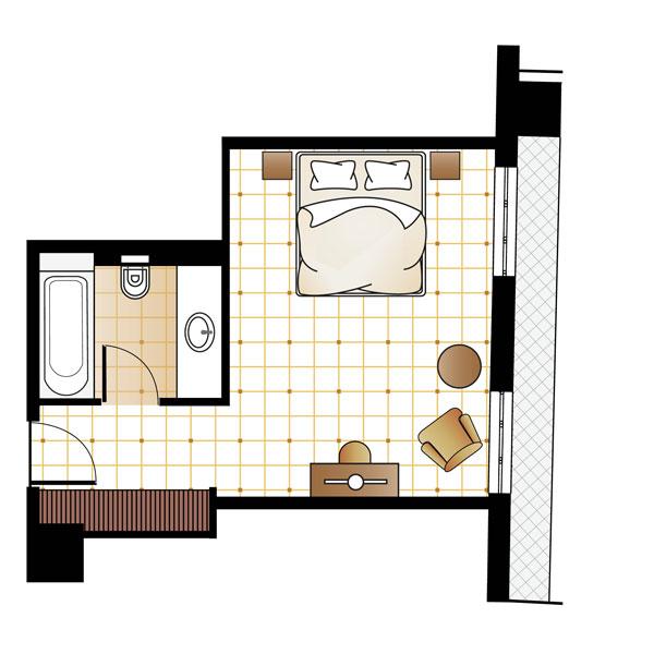 Premium Graffiti Guestroom floorplan