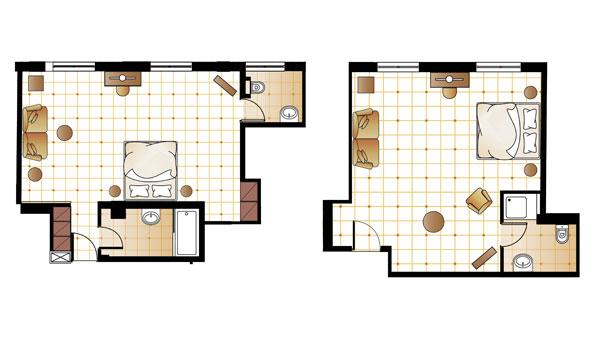 Prestige Pallas Suite floorplan