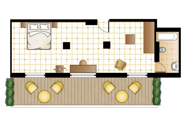 S Loft Suite floorplan