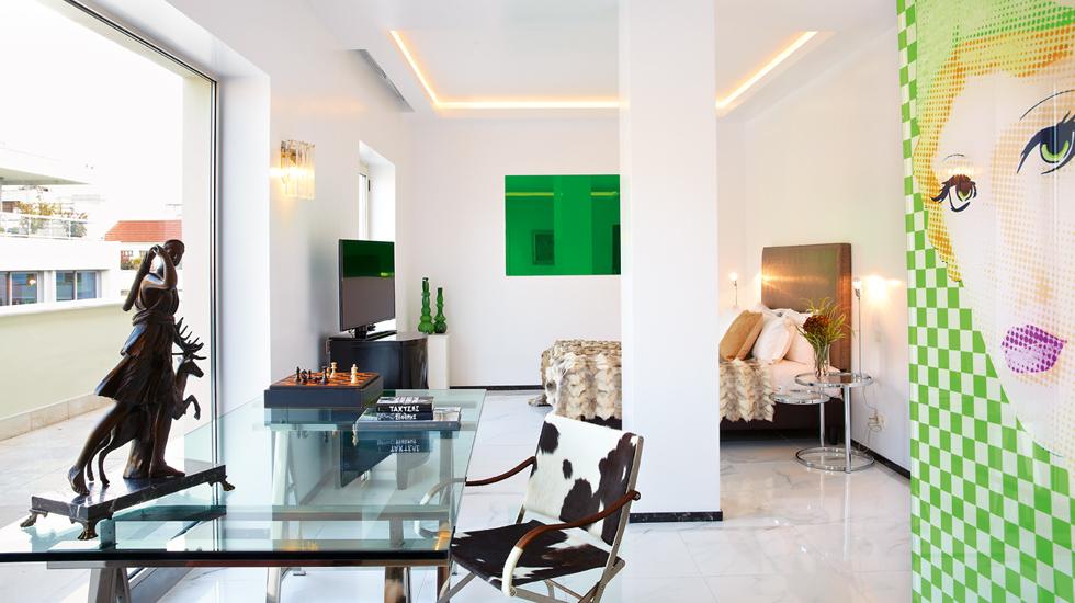S loft suite pallas athena art boutique hotel for Design boutique hotels athens
