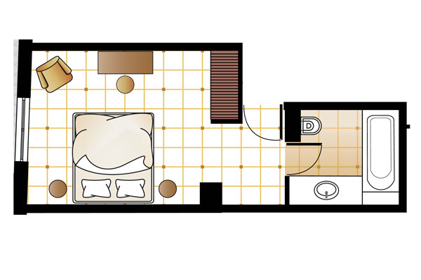 Superior Guestroom floorplan