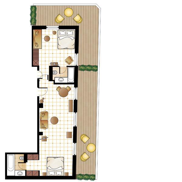 XL Loft Suite floorplan